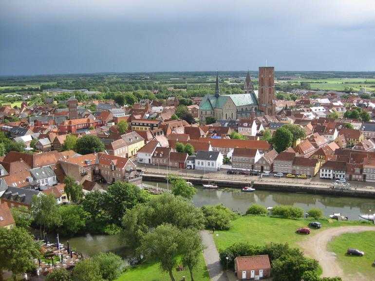 Город Рибе в Дании