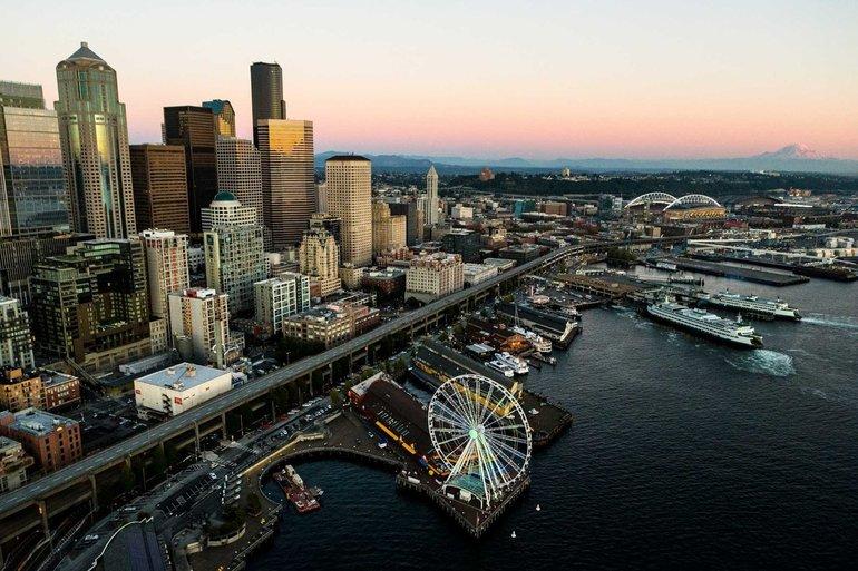 Обзор города Сиэтл